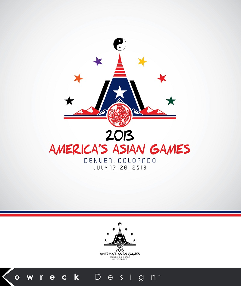Logo Design by kowreck - Entry No. 14 in the Logo Design Contest New Logo Design for America's Asian Games.