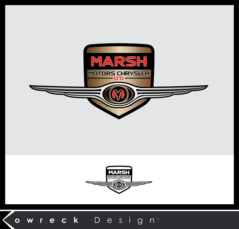 Logo Design by kowreck - Entry No. 4 in the Logo Design Contest Marsh Motors Chrysler Logo Design.