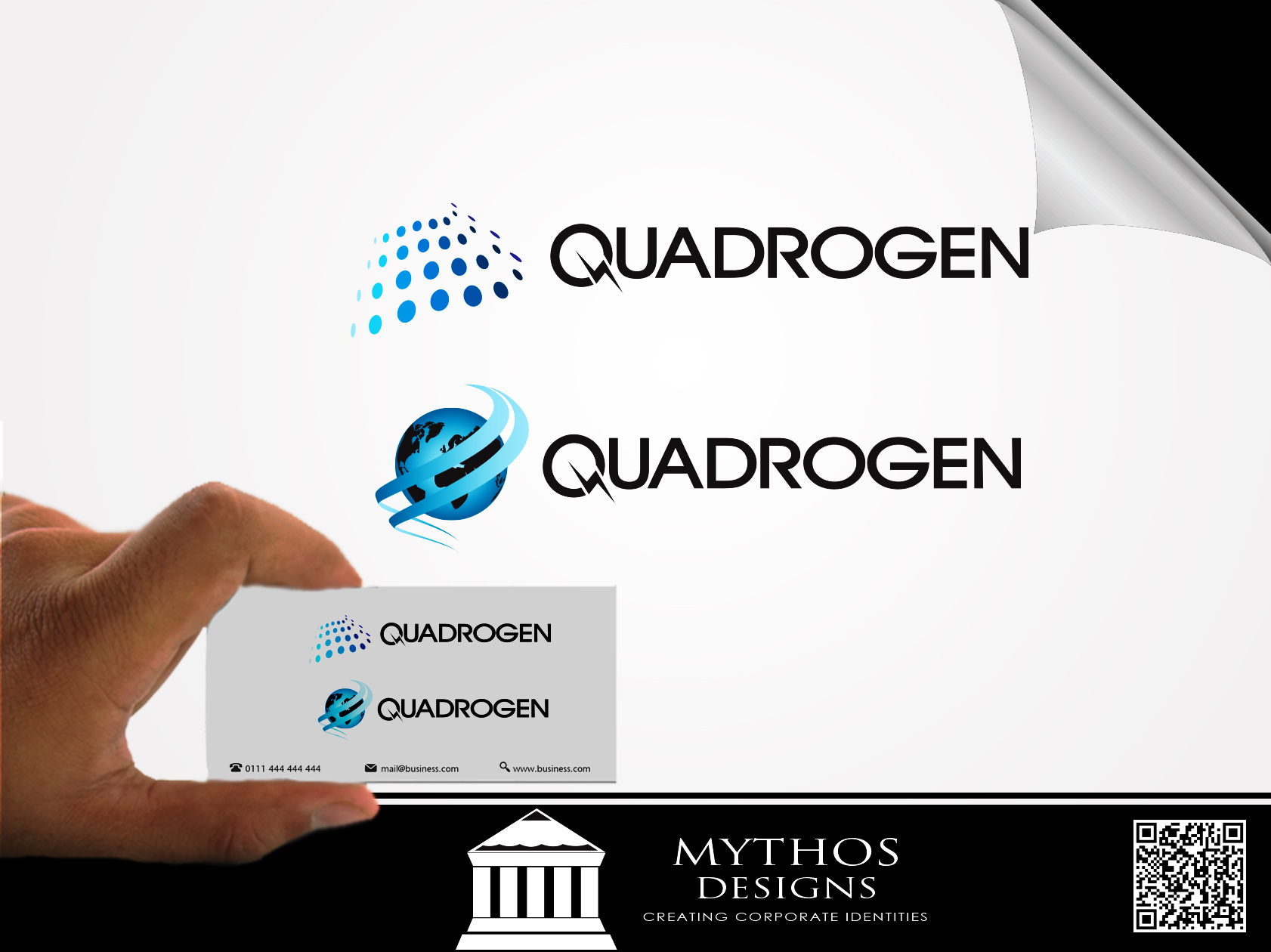 Logo Design by Mythos Designs - Entry No. 50 in the Logo Design Contest New Logo Design for Quadrogen Power Systems, Inc.