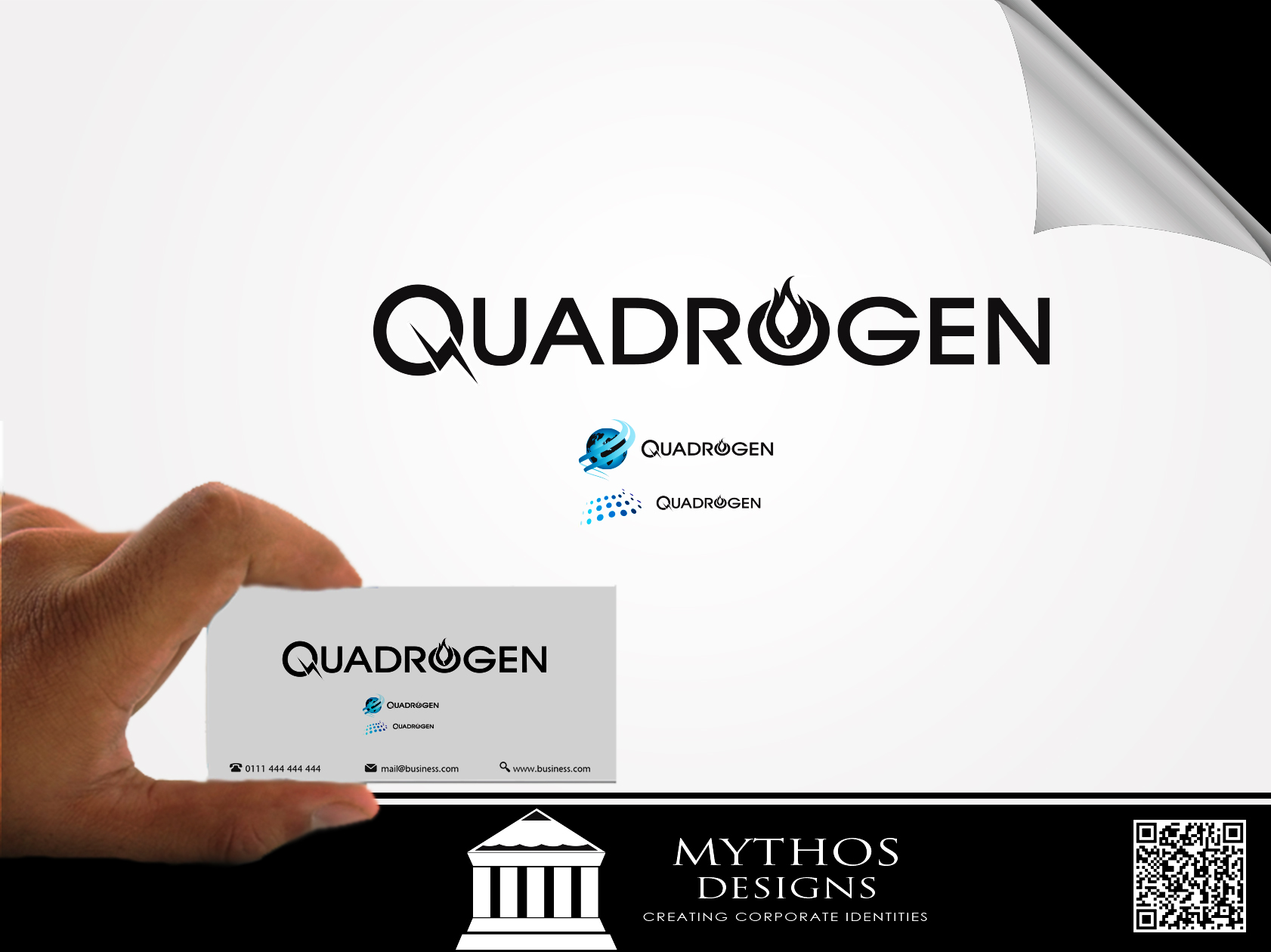 Logo Design by Mythos Designs - Entry No. 51 in the Logo Design Contest New Logo Design for Quadrogen Power Systems, Inc.