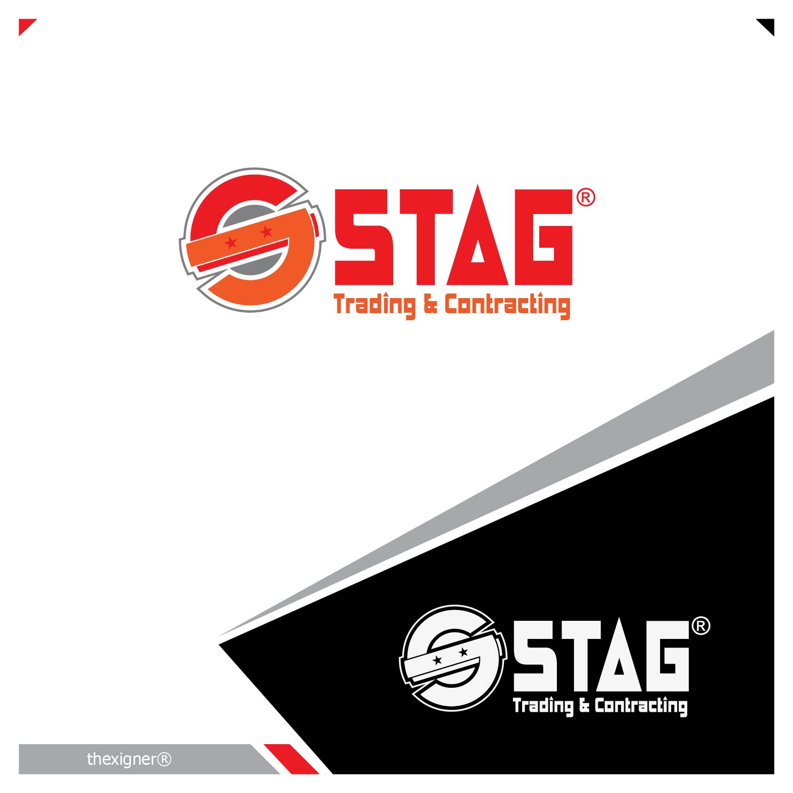 Logo Design by lagalag - Entry No. 147 in the Logo Design Contest Captivating Logo Design for STAG Trading & Contracting.