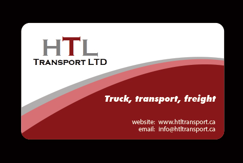 Business Card Design by Mohamed Sheikh - Entry No. 43 in the Business Card Design Contest Fun Business Card Design for HTL Transport LTD.