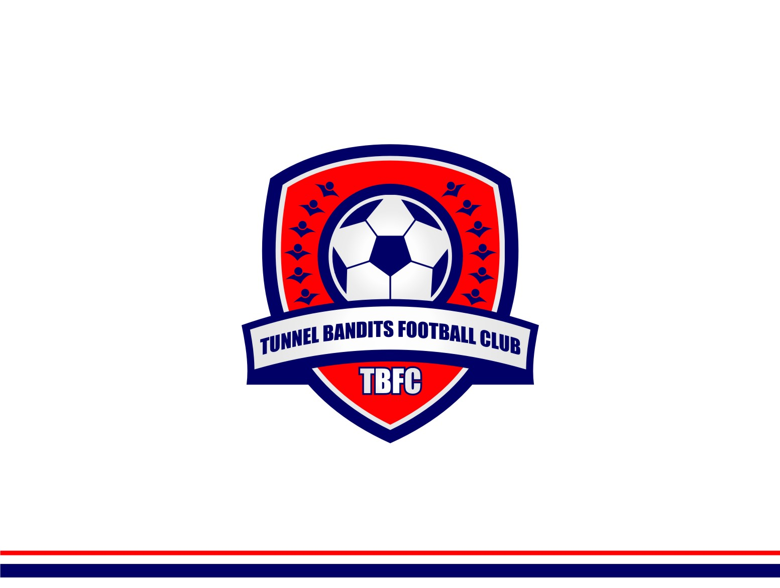 Logo Design by untung - Entry No. 3 in the Logo Design Contest Tunnel Bandits Football Club (TBFC) Logo Design.