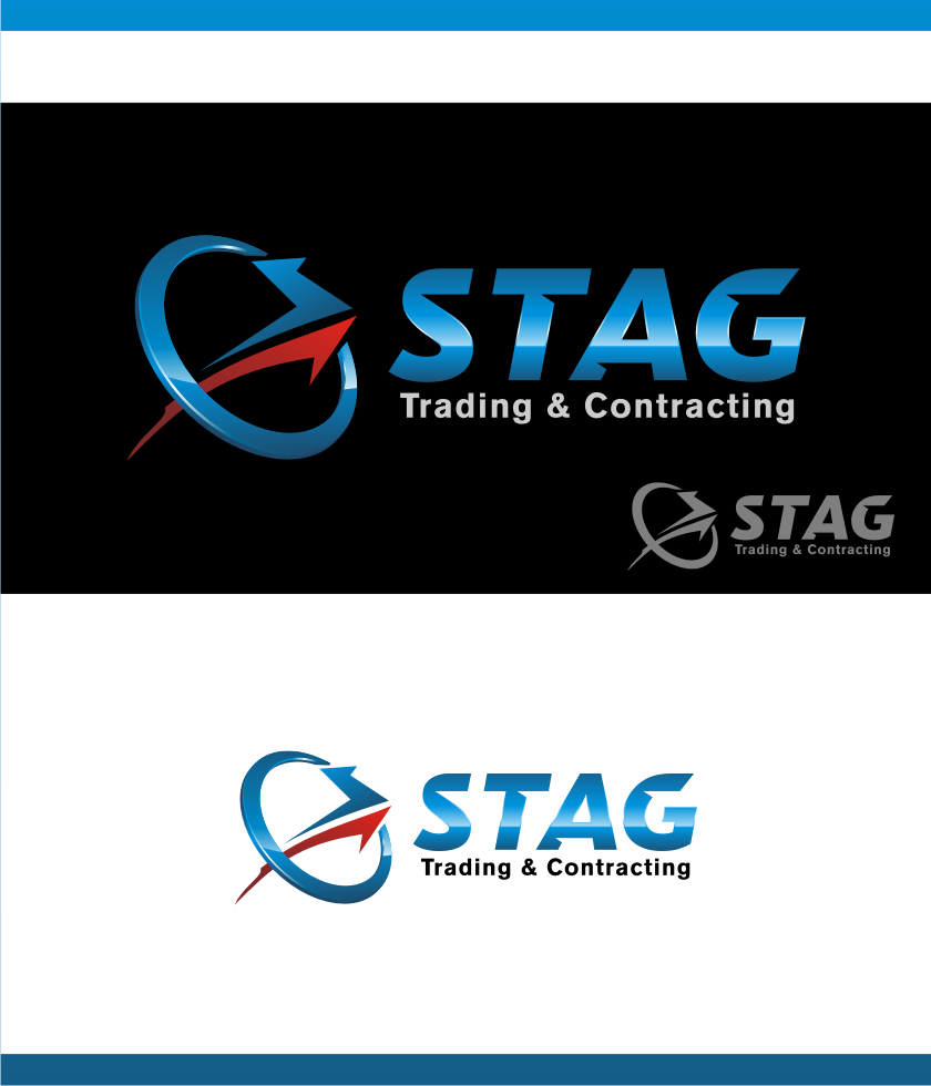 Logo Design by Muhammad Nasrul chasib - Entry No. 158 in the Logo Design Contest Captivating Logo Design for STAG Trading & Contracting.