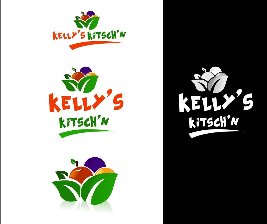 Logo Design by Private User - Entry No. 15 in the Logo Design Contest Unique Logo Design Wanted for Kelly's Kitsch'n.