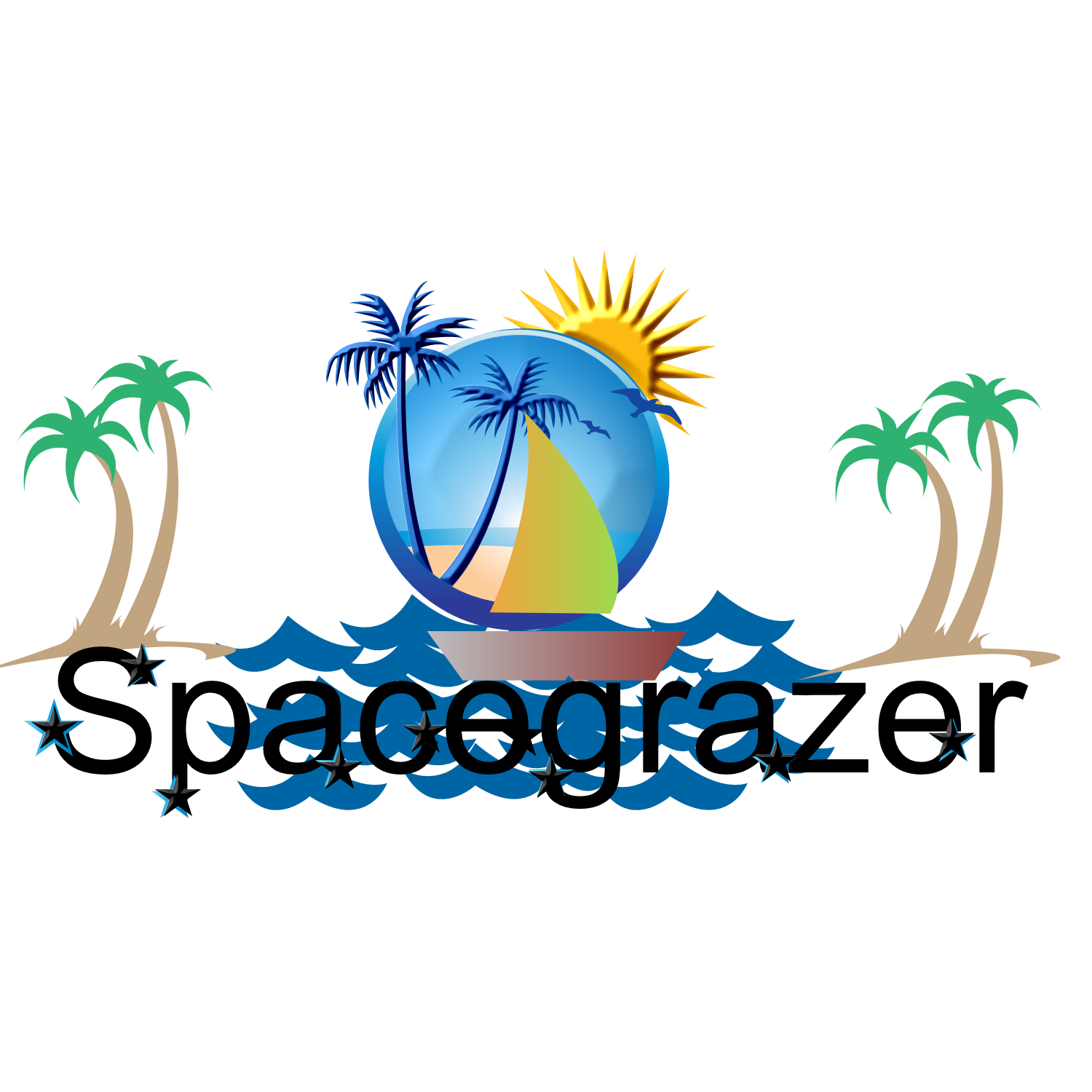 Logo Design by Melanie Fitzpatrick - Entry No. 5 in the Logo Design Contest Fun Logo Design for Spacegrazer.
