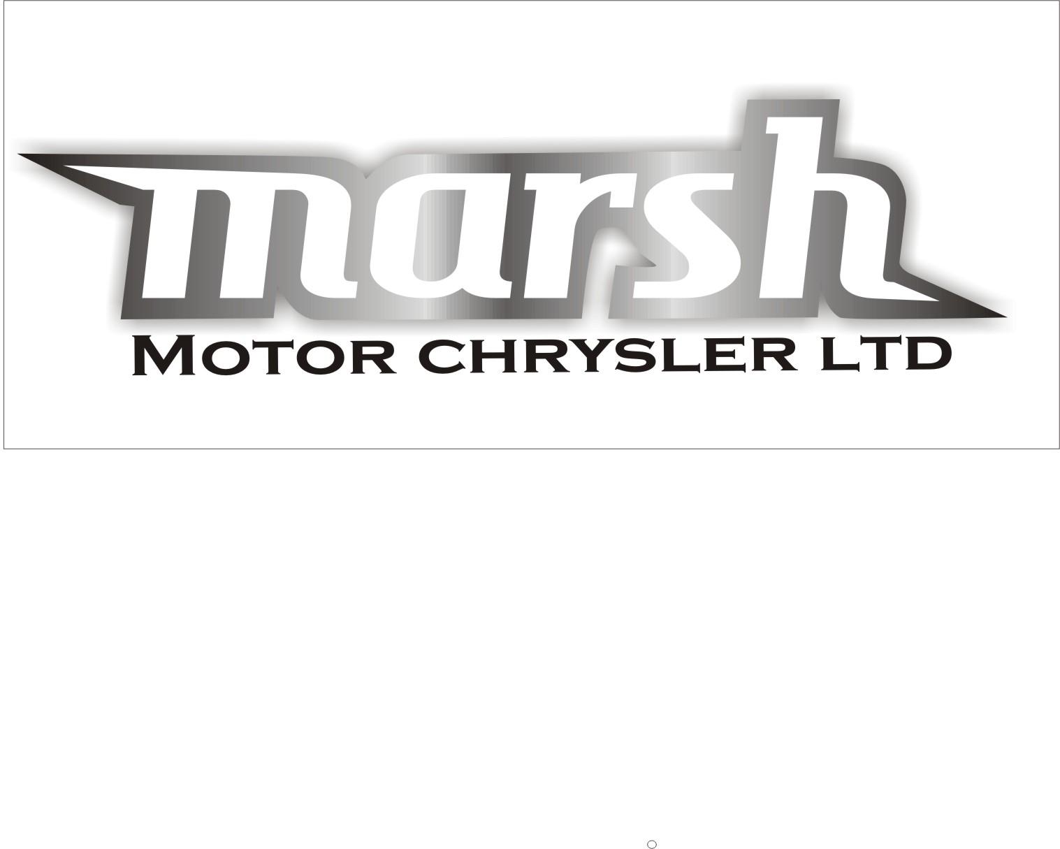 Logo Design by Aveeb Murdavein - Entry No. 9 in the Logo Design Contest Marsh Motors Chrysler Logo Design.