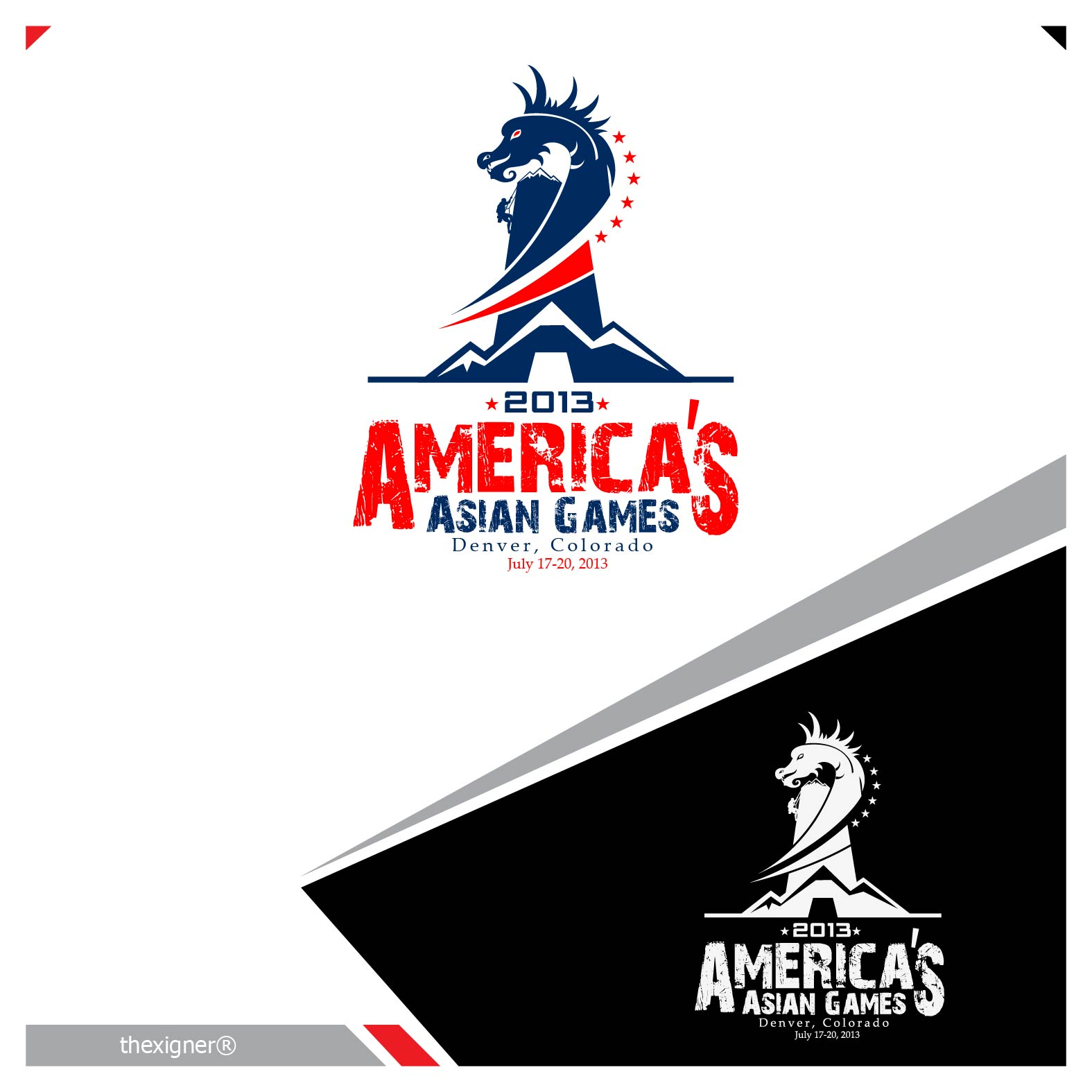 united states non profit logo design - Asian Games Entry