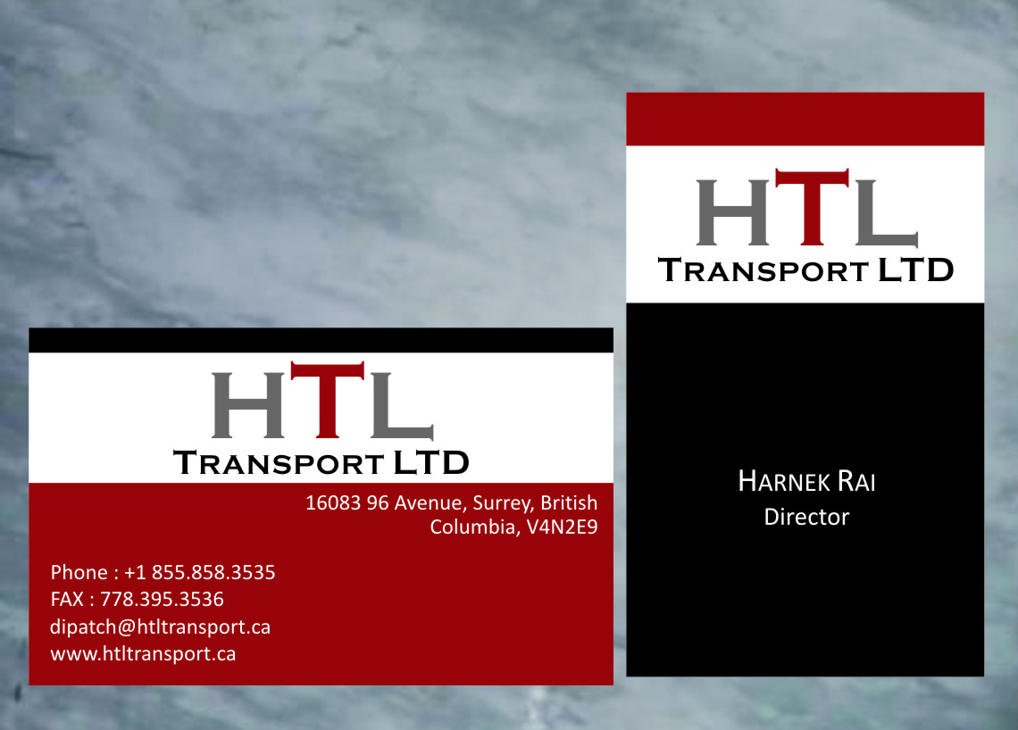 Business Card Design by RasYa Muhammad Athaya - Entry No. 50 in the Business Card Design Contest Fun Business Card Design for HTL Transport LTD.