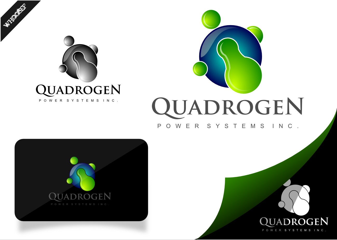 Logo Design by whoosef - Entry No. 110 in the Logo Design Contest New Logo Design for Quadrogen Power Systems, Inc.