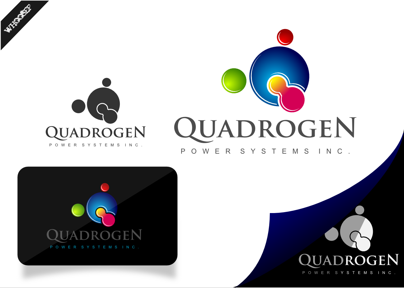 Logo Design by whoosef - Entry No. 111 in the Logo Design Contest New Logo Design for Quadrogen Power Systems, Inc.