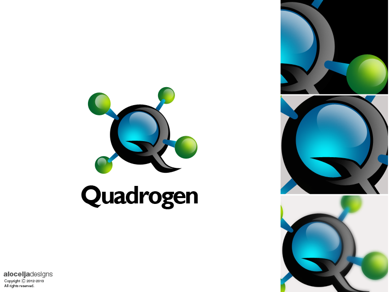 Logo Design by alocelja - Entry No. 115 in the Logo Design Contest New Logo Design for Quadrogen Power Systems, Inc.
