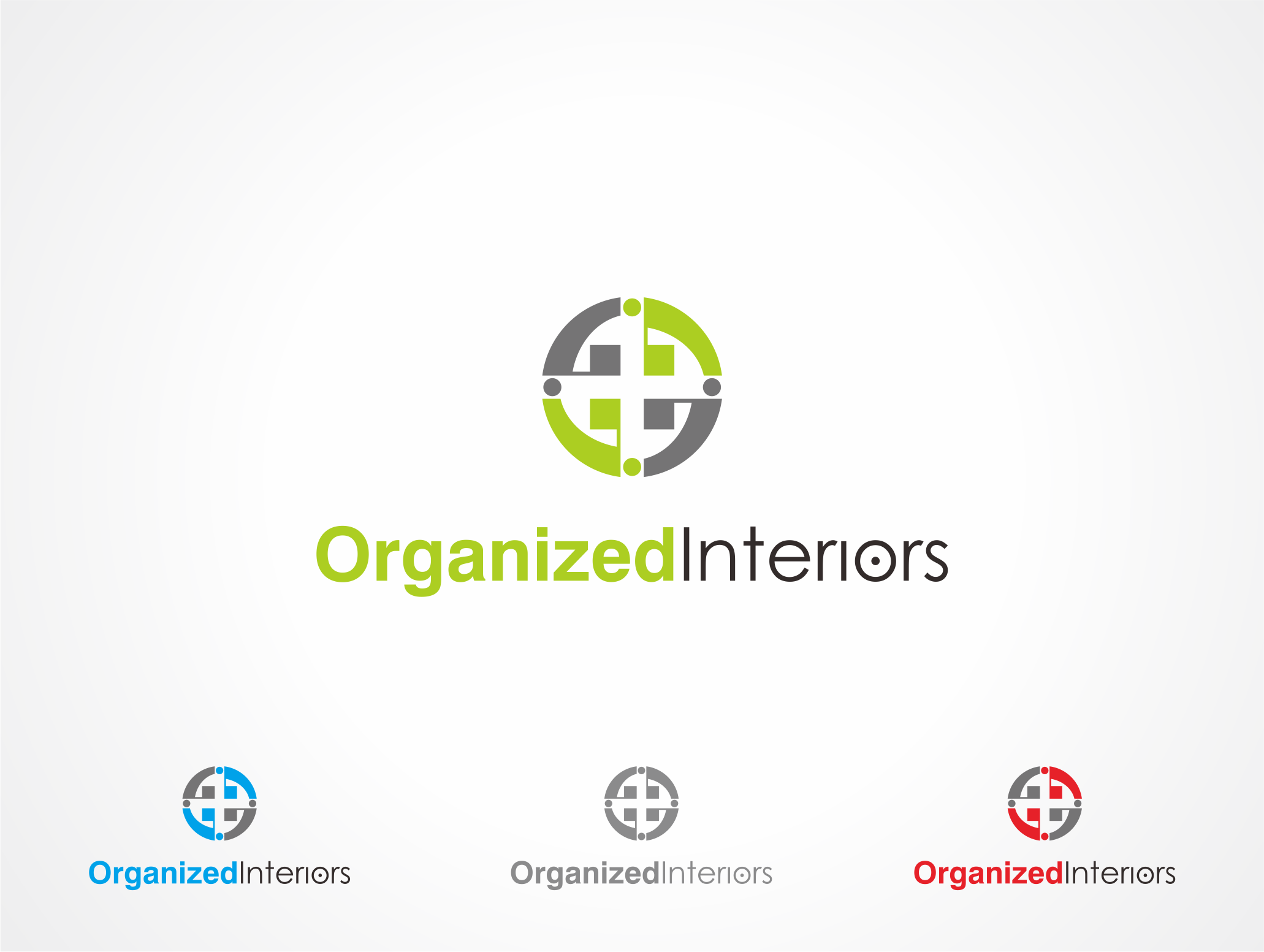Logo Design by Armada Jamaluddin - Entry No. 50 in the Logo Design Contest Imaginative Logo Design for Organized Interiors.