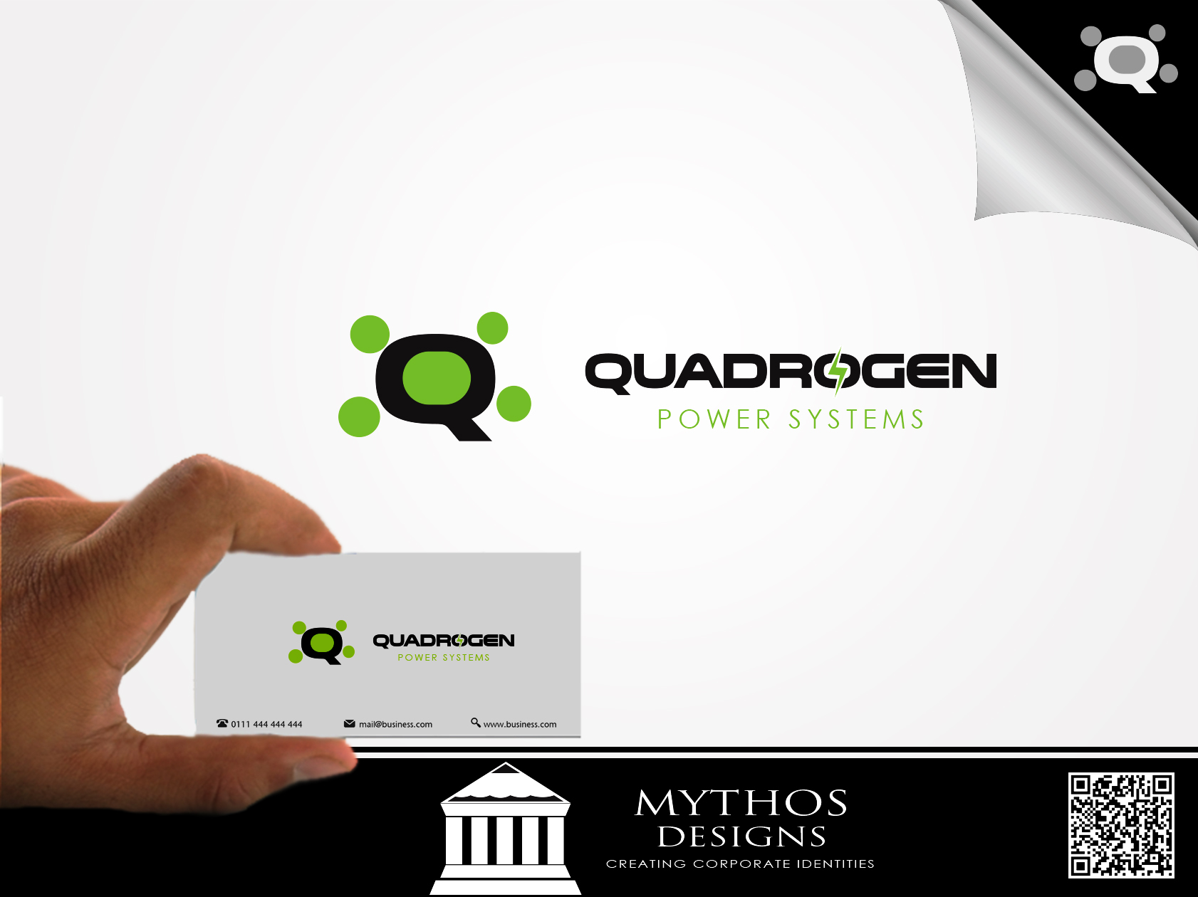 Logo Design by Mythos Designs - Entry No. 122 in the Logo Design Contest New Logo Design for Quadrogen Power Systems, Inc.