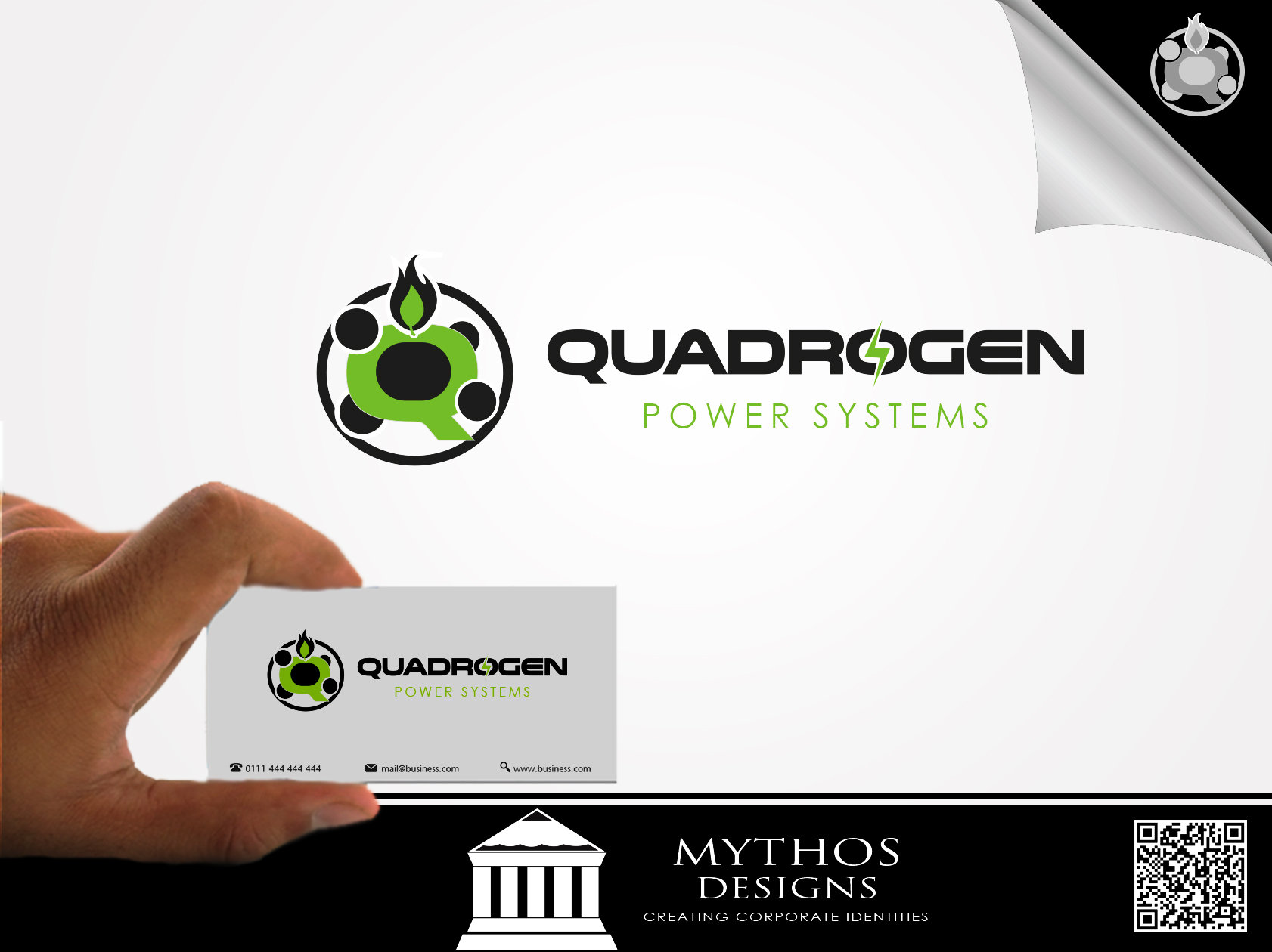 Logo Design by Mythos Designs - Entry No. 124 in the Logo Design Contest New Logo Design for Quadrogen Power Systems, Inc.