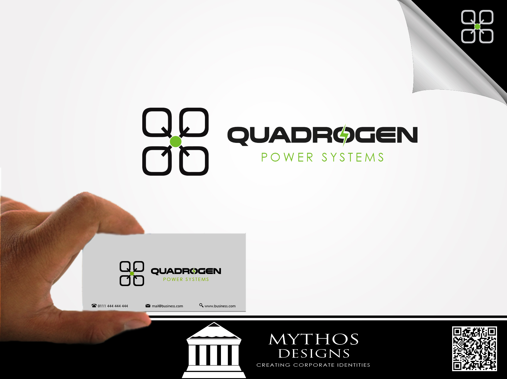 Logo Design by Mythos Designs - Entry No. 126 in the Logo Design Contest New Logo Design for Quadrogen Power Systems, Inc.