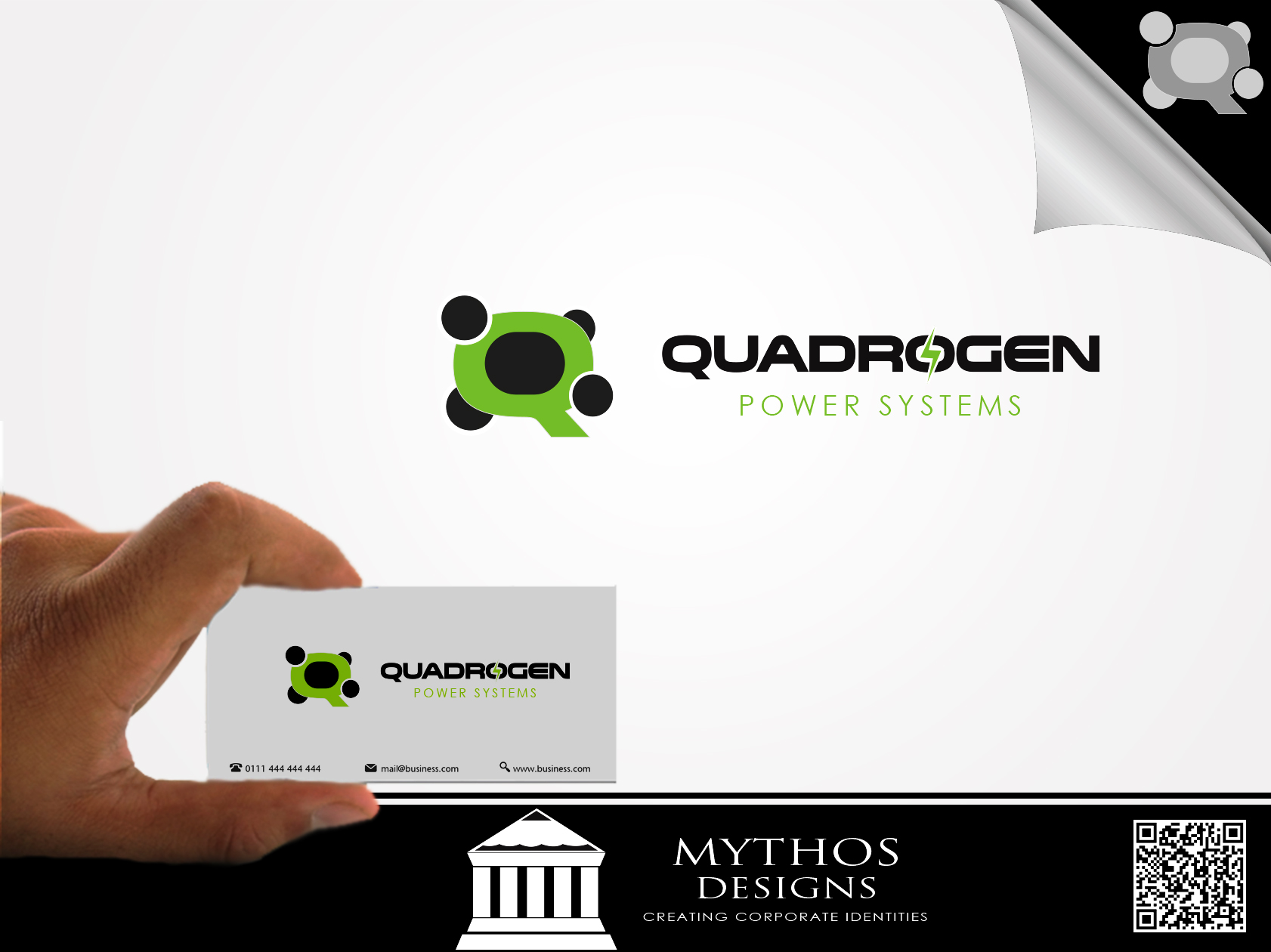 Logo Design by Mythos Designs - Entry No. 127 in the Logo Design Contest New Logo Design for Quadrogen Power Systems, Inc.