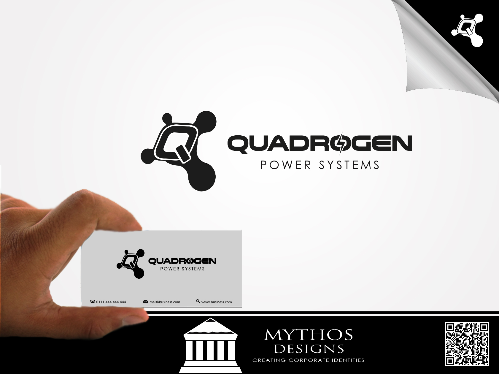 Logo Design by Mythos Designs - Entry No. 130 in the Logo Design Contest New Logo Design for Quadrogen Power Systems, Inc.