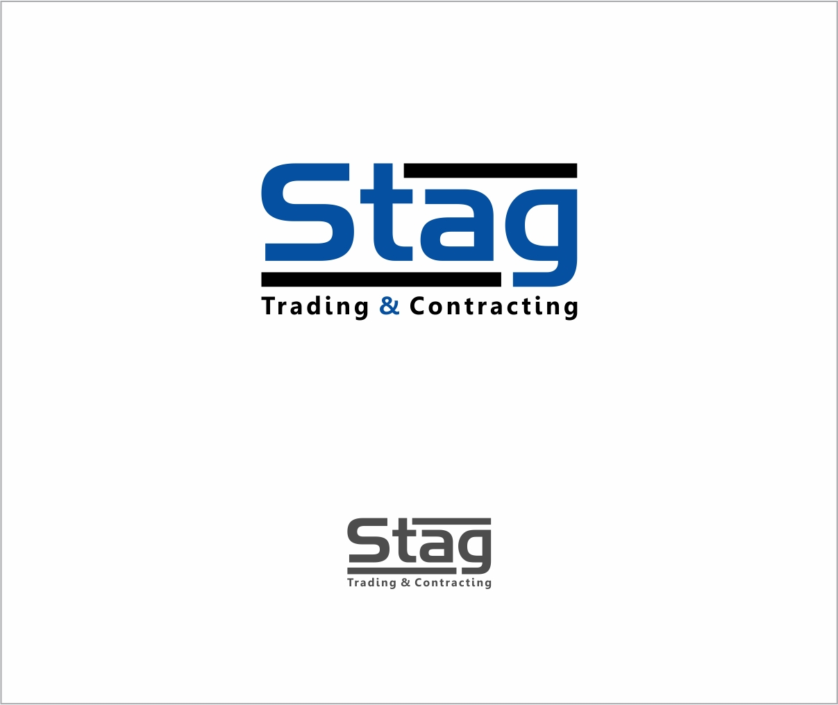 Logo Design by haidu - Entry No. 281 in the Logo Design Contest Captivating Logo Design for STAG Trading & Contracting.
