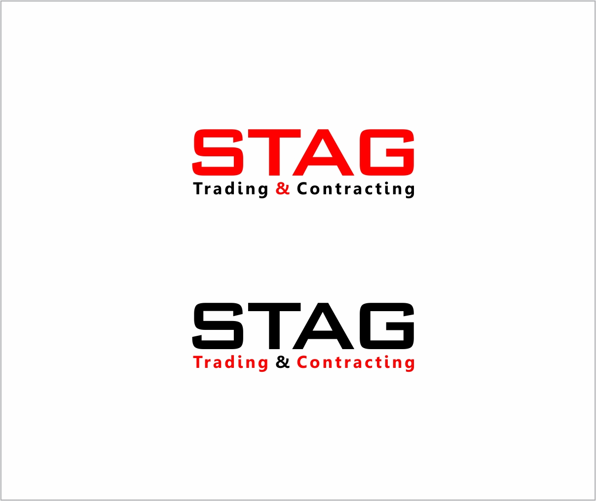Logo Design by haidu - Entry No. 284 in the Logo Design Contest Captivating Logo Design for STAG Trading & Contracting.