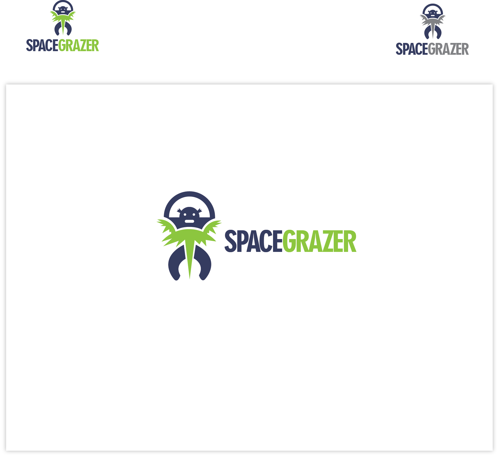Logo Design by Agnes Bak - Entry No. 24 in the Logo Design Contest Fun Logo Design for Spacegrazer.