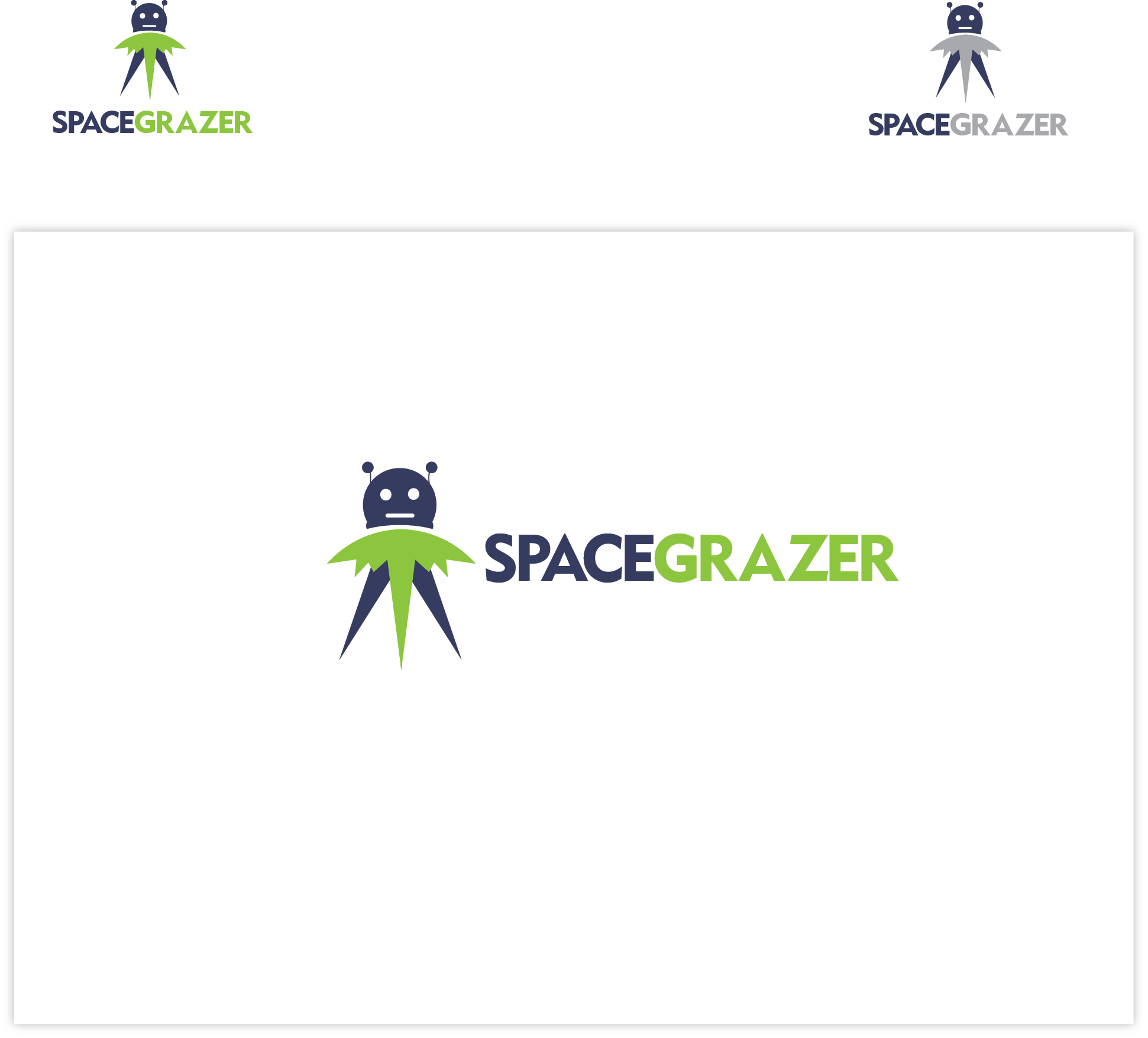 Logo Design by Agnes Bak - Entry No. 26 in the Logo Design Contest Fun Logo Design for Spacegrazer.