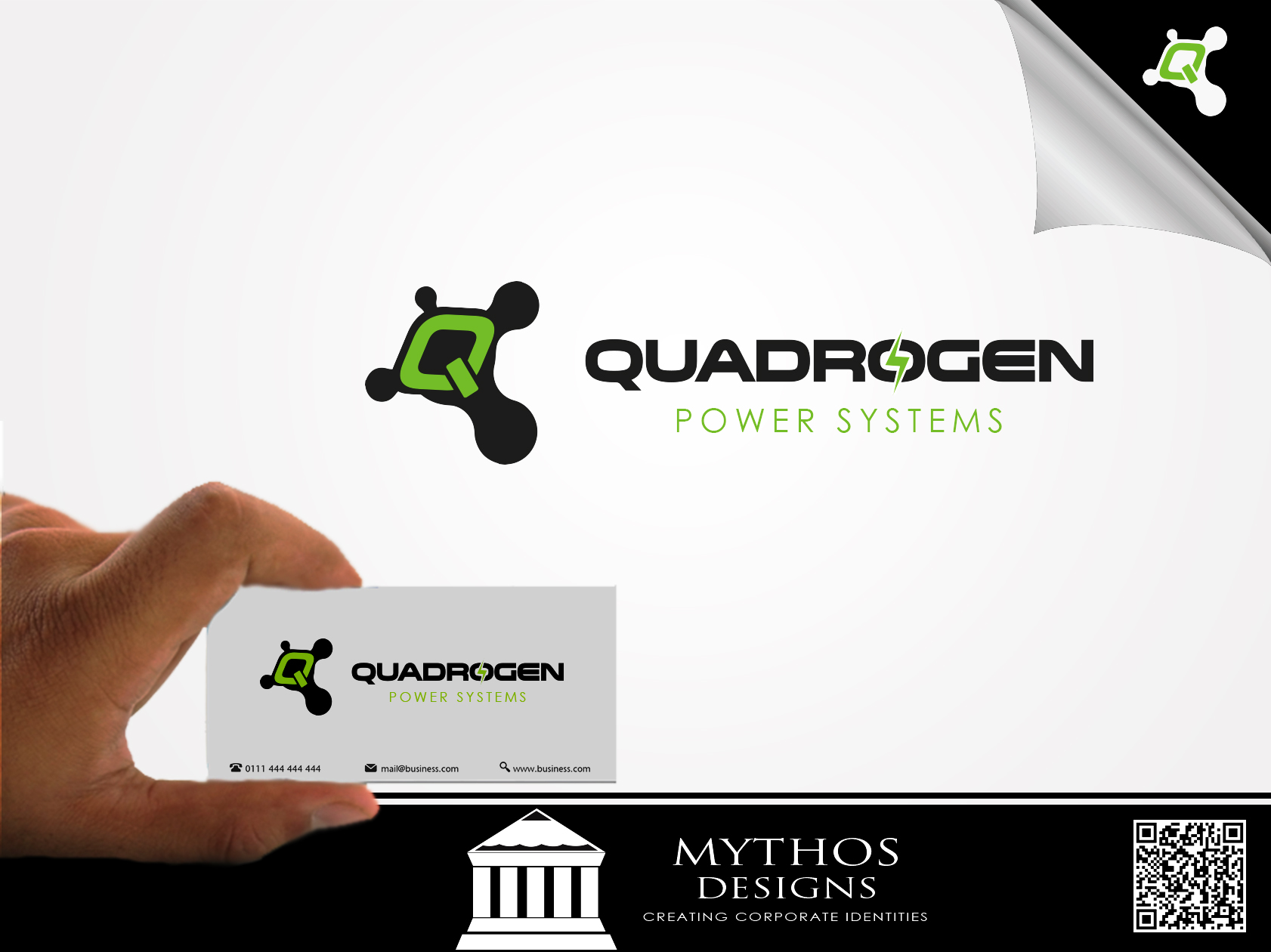 Logo Design by Mythos Designs - Entry No. 134 in the Logo Design Contest New Logo Design for Quadrogen Power Systems, Inc.