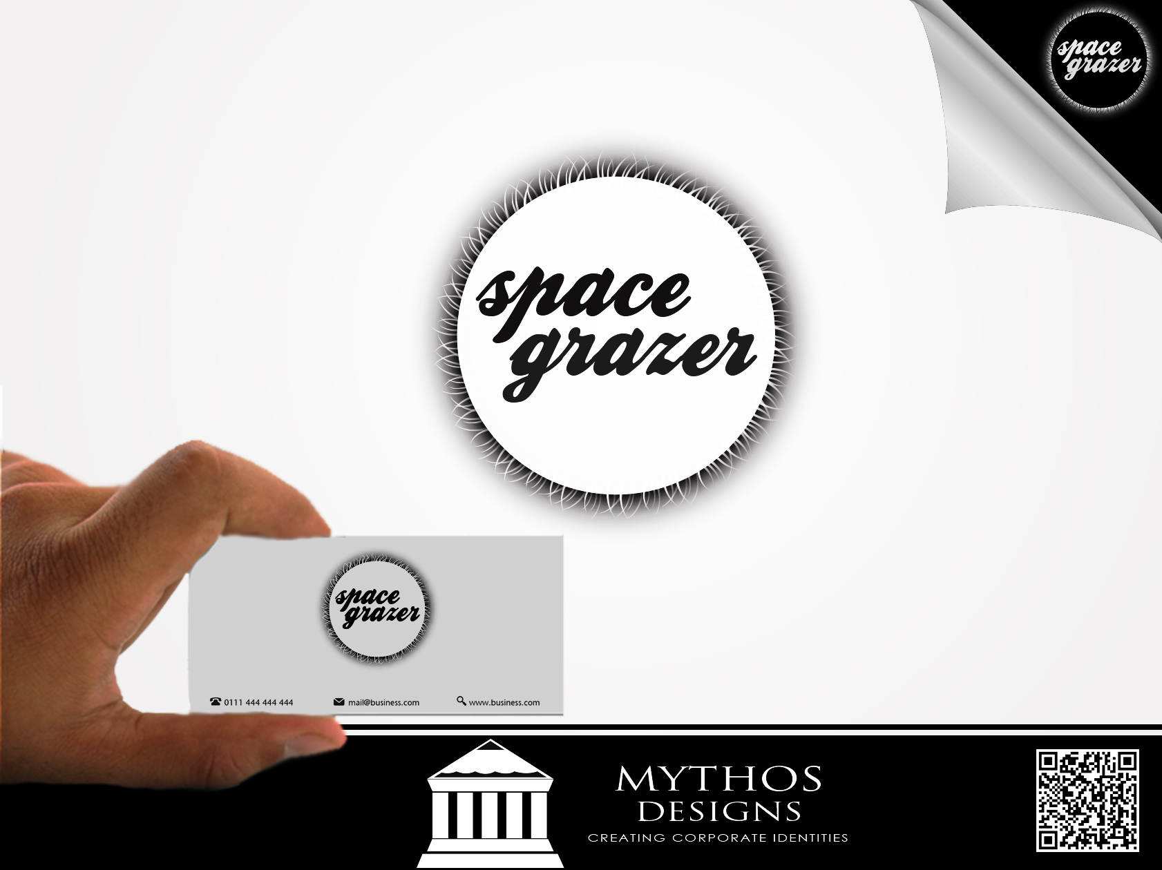 Logo Design by Mythos Designs - Entry No. 30 in the Logo Design Contest Fun Logo Design for Spacegrazer.