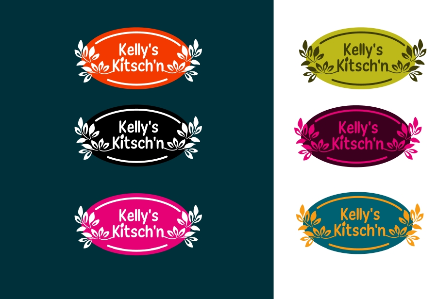 Logo Design by Private User - Entry No. 43 in the Logo Design Contest Unique Logo Design Wanted for Kelly's Kitsch'n.