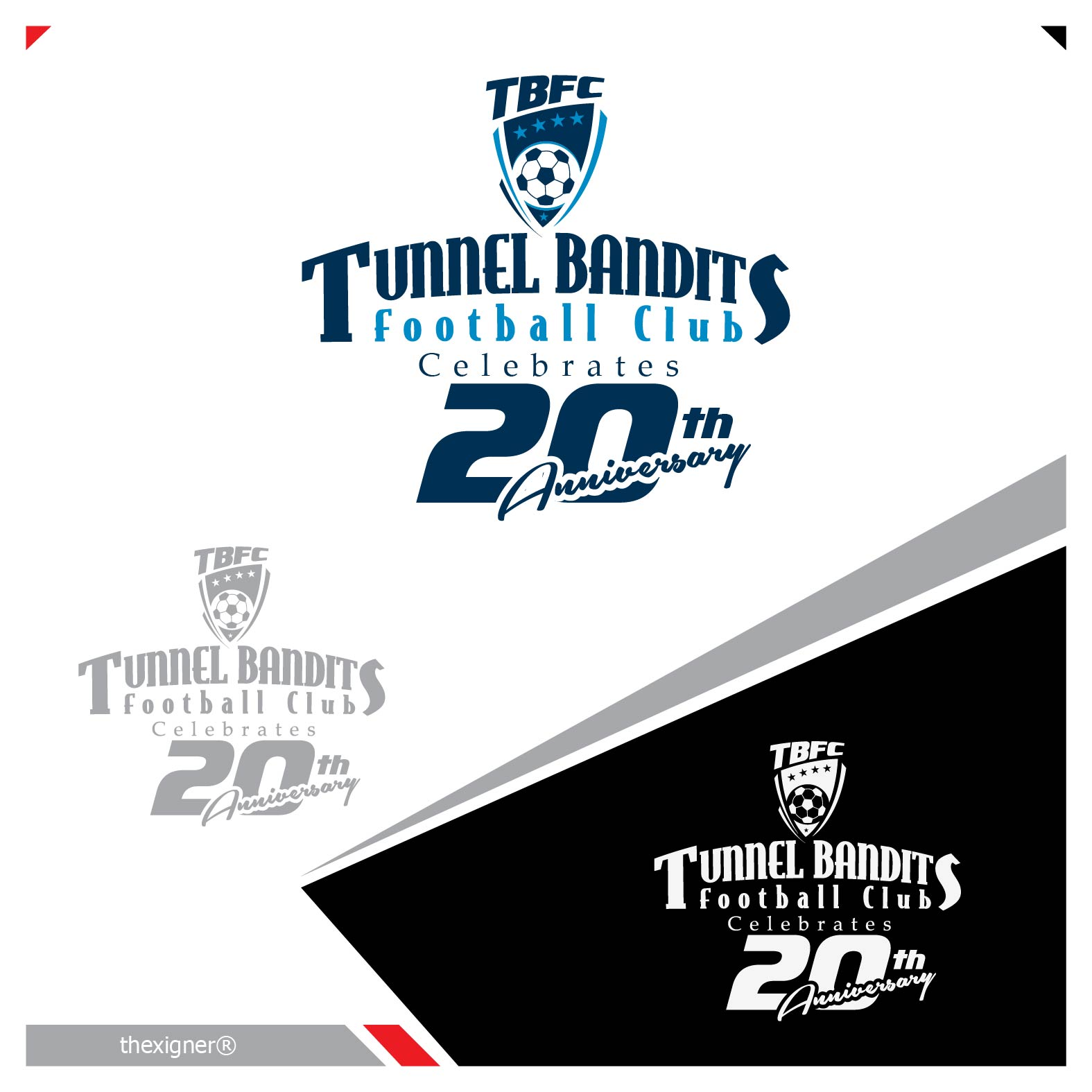 Logo Design by lagalag - Entry No. 6 in the Logo Design Contest Tunnel Bandits Football Club (TBFC) Logo Design.