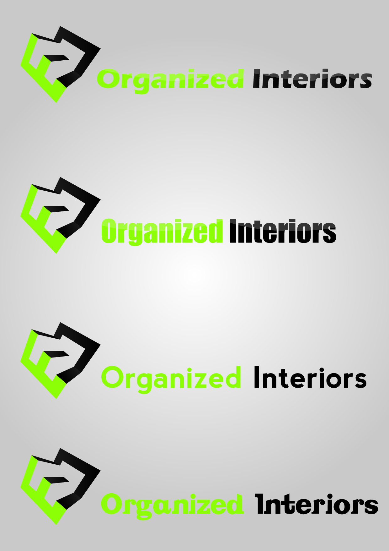 Logo Design by mediaproductionart - Entry No. 81 in the Logo Design Contest Imaginative Logo Design for Organized Interiors.
