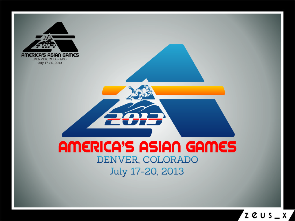 Logo Design by RoSyid Rono-Rene On Java - Entry No. 37 in the Logo Design Contest New Logo Design for America's Asian Games.