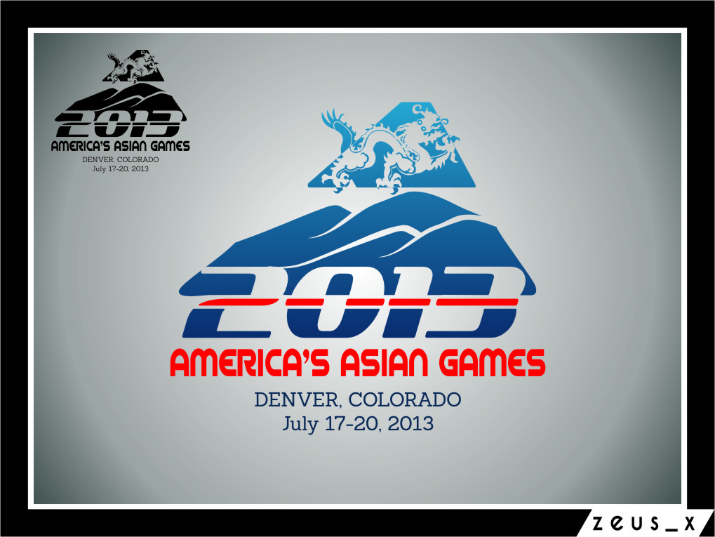 Logo Design by RoSyid Rono-Rene On Java - Entry No. 38 in the Logo Design Contest New Logo Design for America's Asian Games.