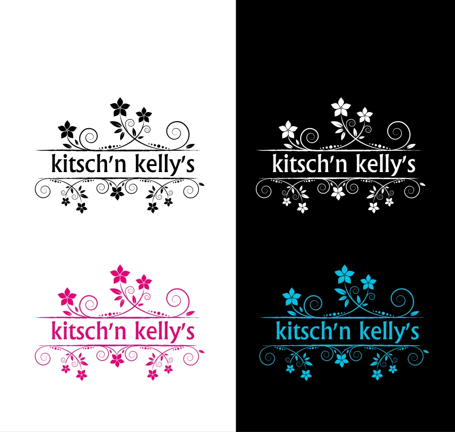 Logo Design by Private User - Entry No. 63 in the Logo Design Contest Unique Logo Design Wanted for Kelly's Kitsch'n.