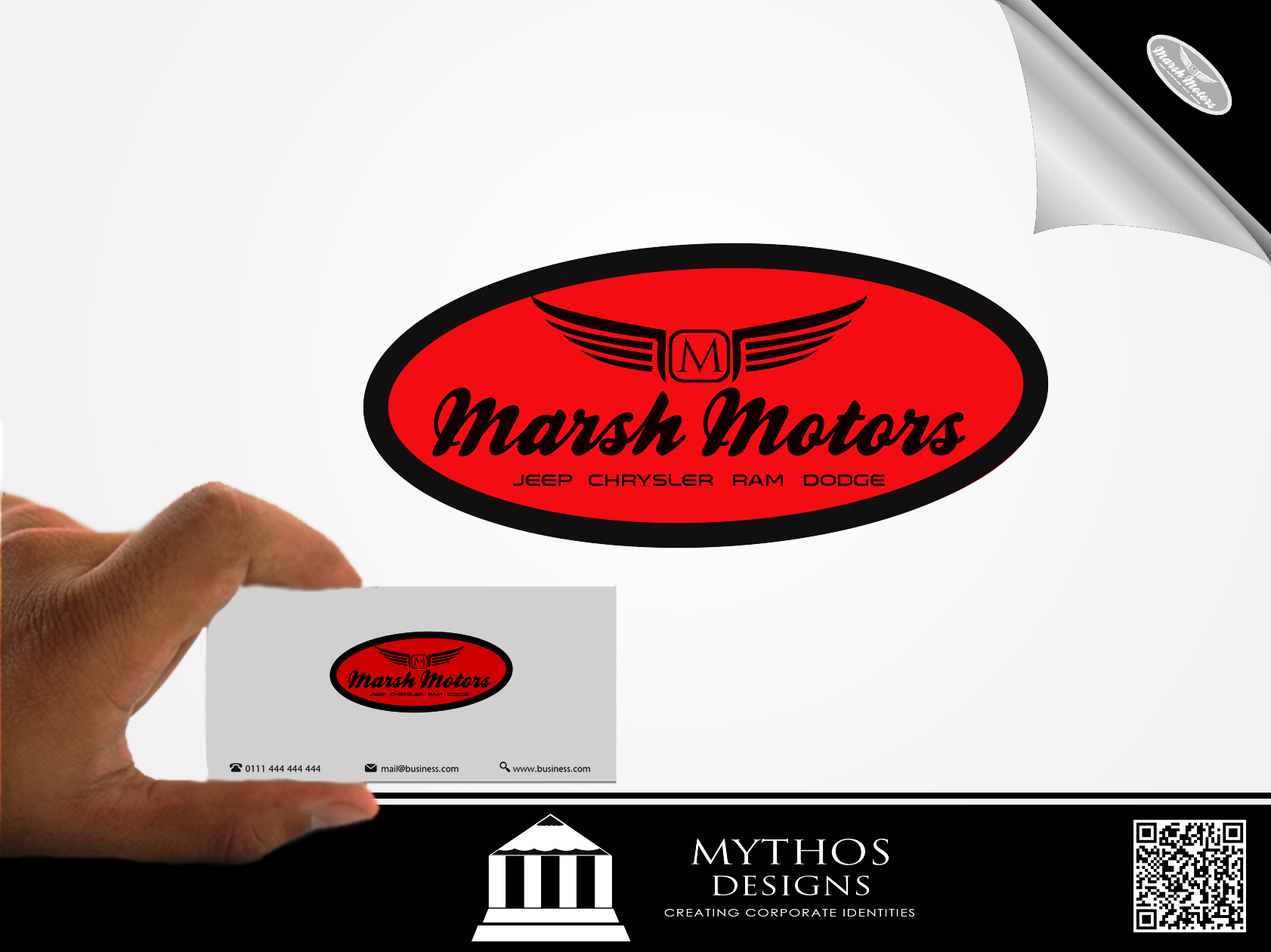 Logo Design by Mythos Designs - Entry No. 11 in the Logo Design Contest Marsh Motors Chrysler Logo Design.