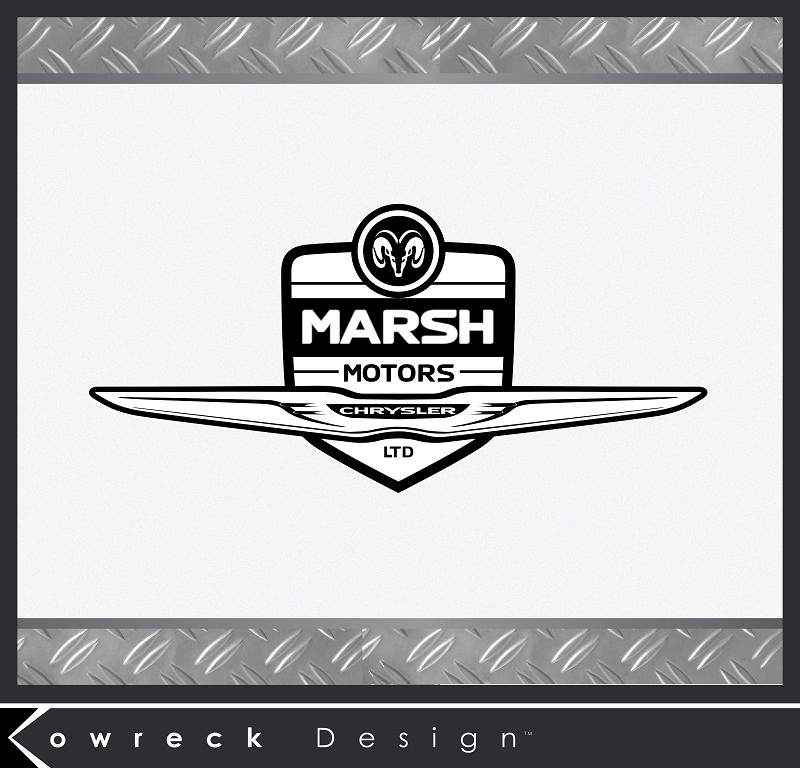 Logo Design by kowreck - Entry No. 13 in the Logo Design Contest Marsh Motors Chrysler Logo Design.