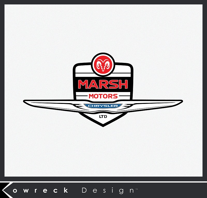 Logo Design by kowreck - Entry No. 14 in the Logo Design Contest Marsh Motors Chrysler Logo Design.