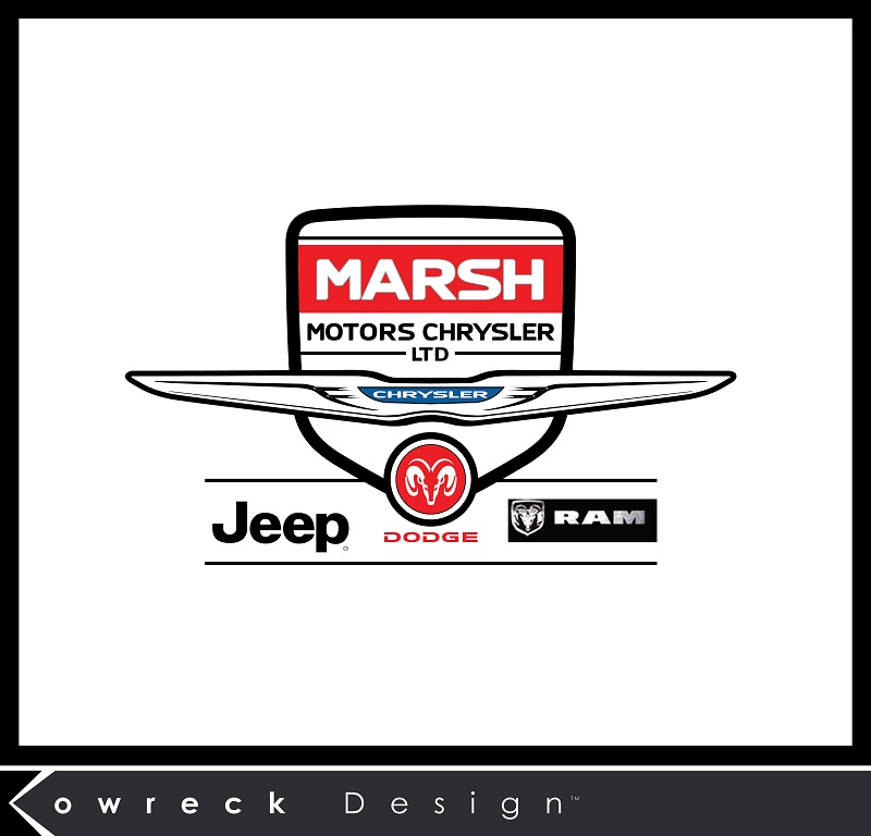 Logo Design by kowreck - Entry No. 15 in the Logo Design Contest Marsh Motors Chrysler Logo Design.
