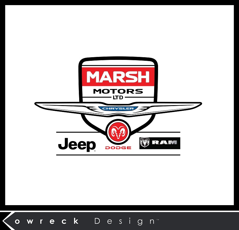 Logo Design by kowreck - Entry No. 16 in the Logo Design Contest Marsh Motors Chrysler Logo Design.