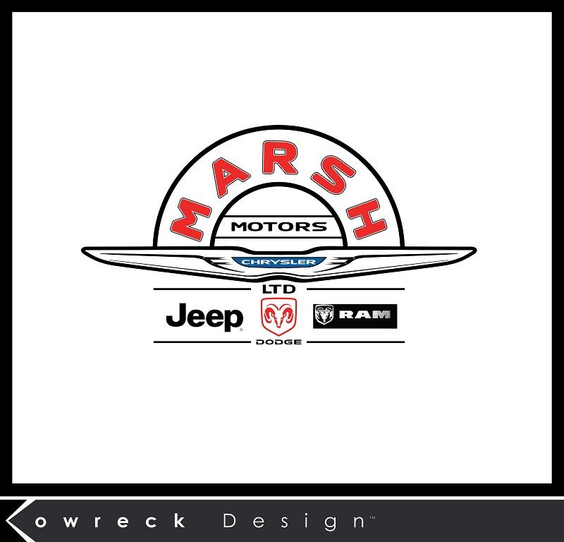 Logo Design by kowreck - Entry No. 18 in the Logo Design Contest Marsh Motors Chrysler Logo Design.