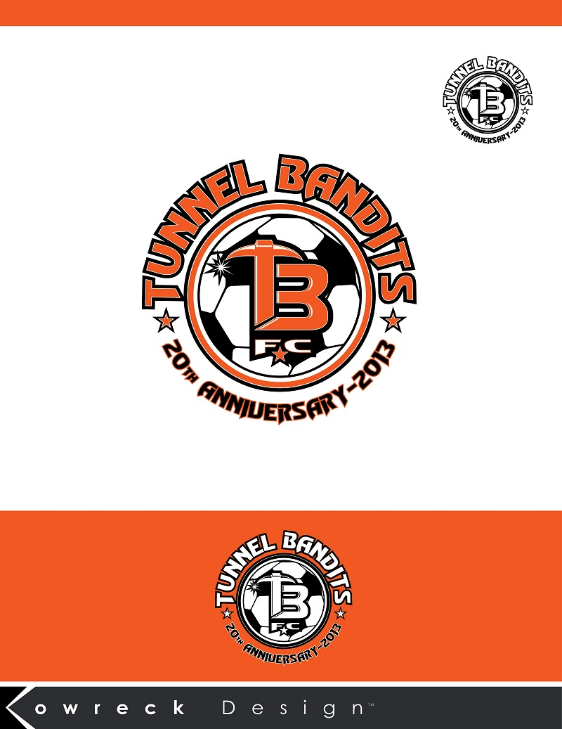 Logo Design by kowreck - Entry No. 20 in the Logo Design Contest Tunnel Bandits Football Club (TBFC) Logo Design.