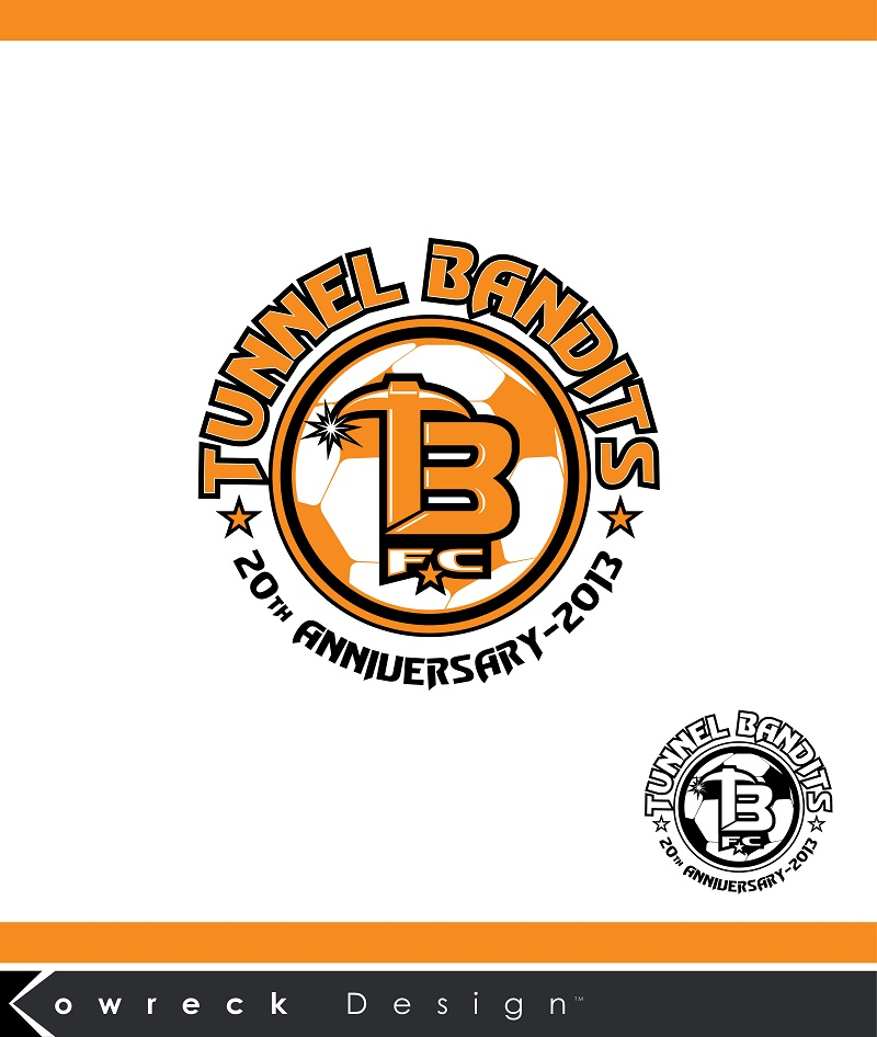 Logo Design by kowreck - Entry No. 21 in the Logo Design Contest Tunnel Bandits Football Club (TBFC) Logo Design.