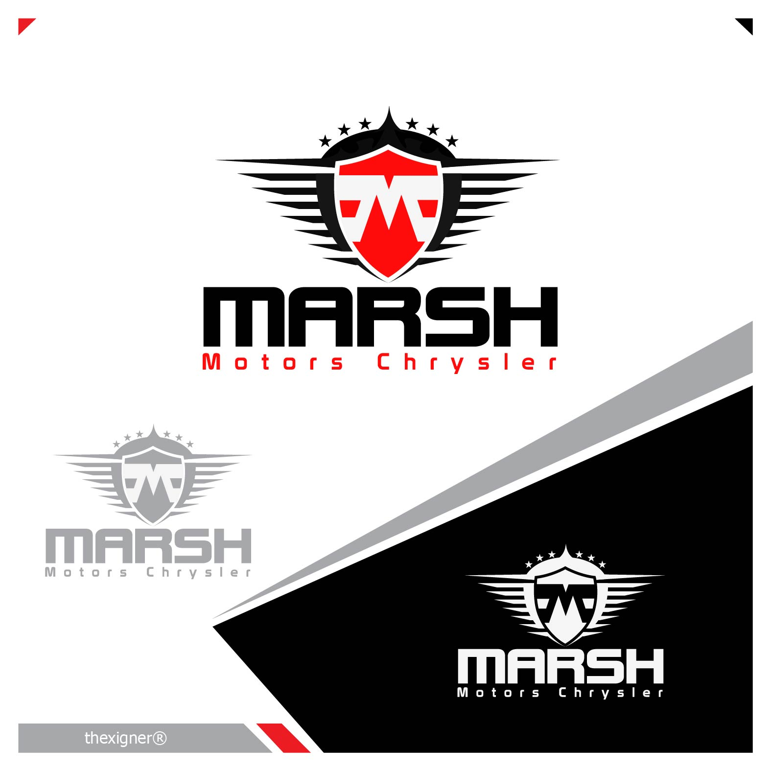 Logo Design by lagalag - Entry No. 19 in the Logo Design Contest Marsh Motors Chrysler Logo Design.