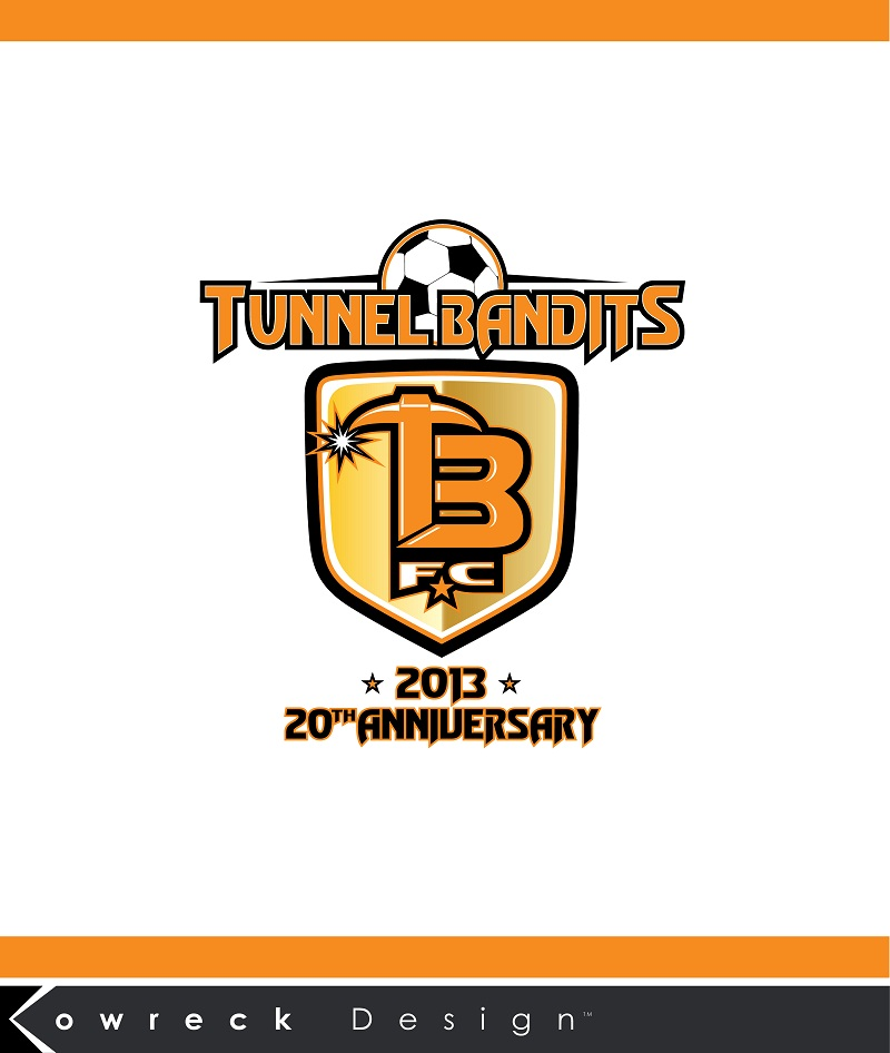 Logo Design by kowreck - Entry No. 22 in the Logo Design Contest Tunnel Bandits Football Club (TBFC) Logo Design.