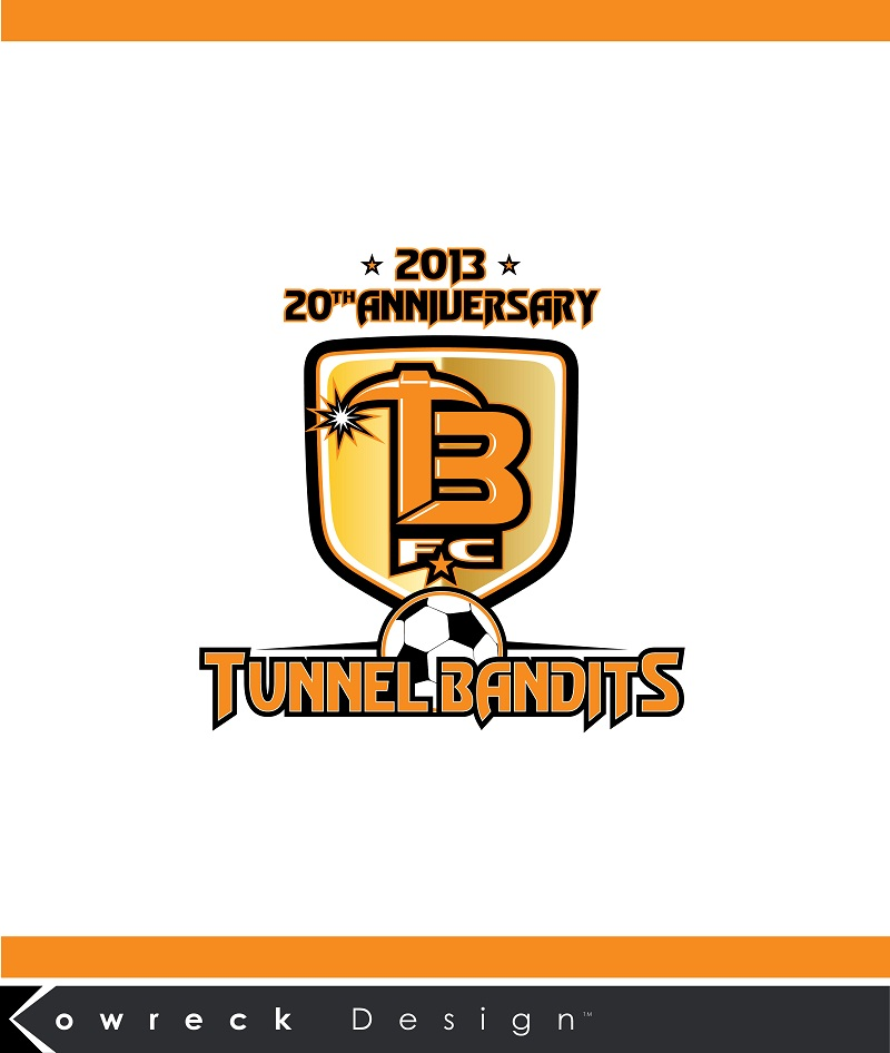 Logo Design by kowreck - Entry No. 23 in the Logo Design Contest Tunnel Bandits Football Club (TBFC) Logo Design.