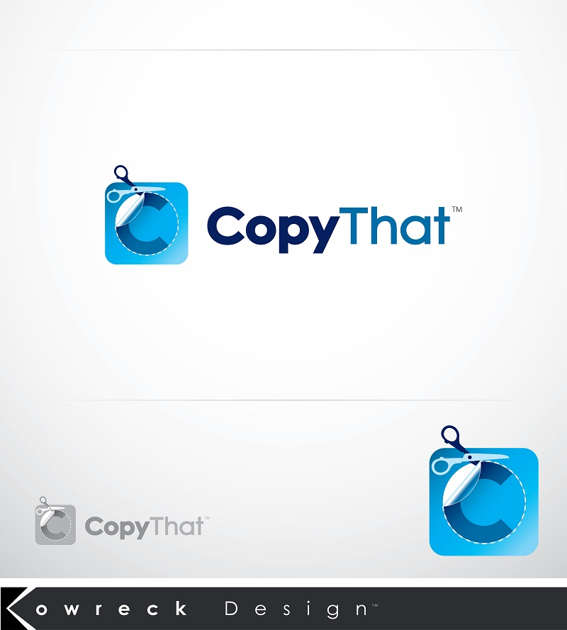 Logo Design by kowreck - Entry No. 5 in the Logo Design Contest Inspiring Logo Design for CopyThat.