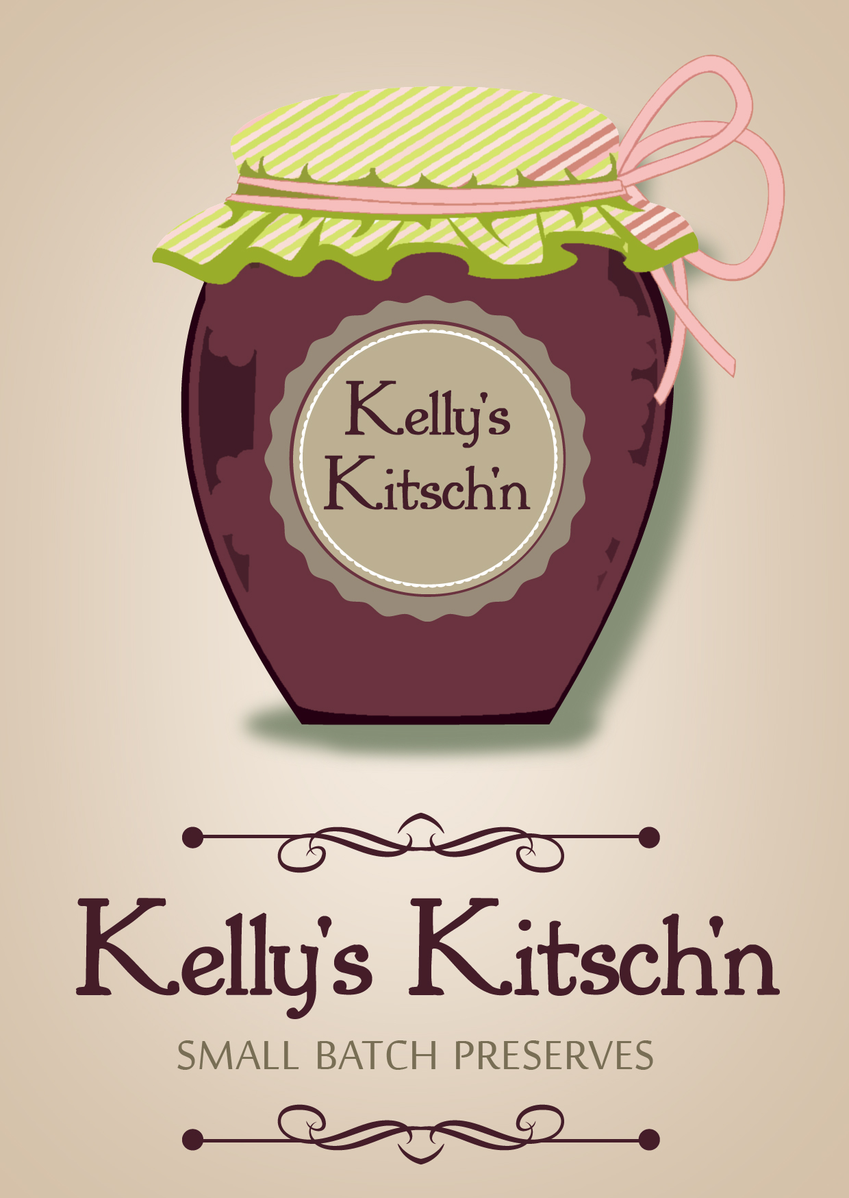 Logo Design by Private User - Entry No. 71 in the Logo Design Contest Unique Logo Design Wanted for Kelly's Kitsch'n.