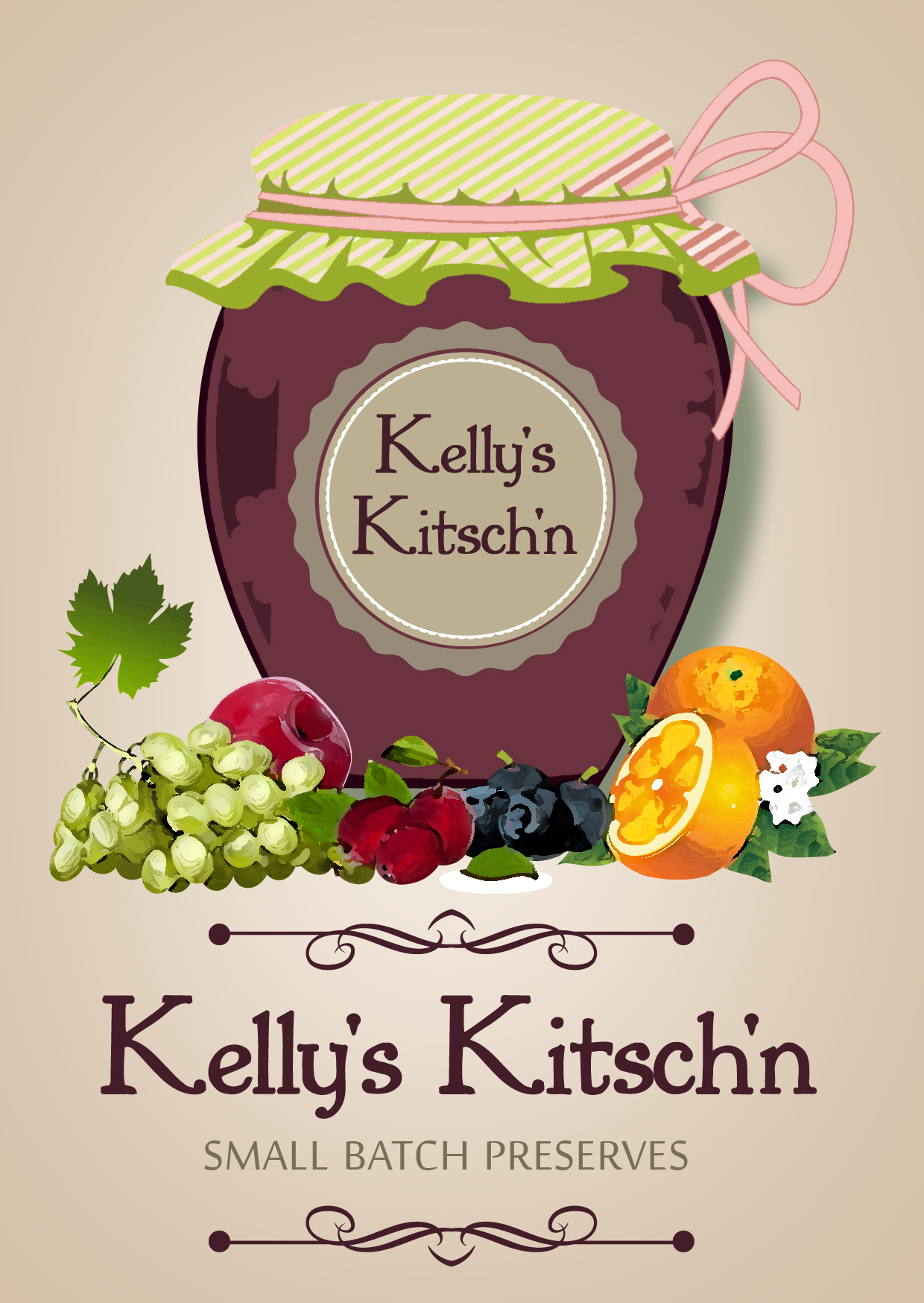 Logo Design by Private User - Entry No. 72 in the Logo Design Contest Unique Logo Design Wanted for Kelly's Kitsch'n.