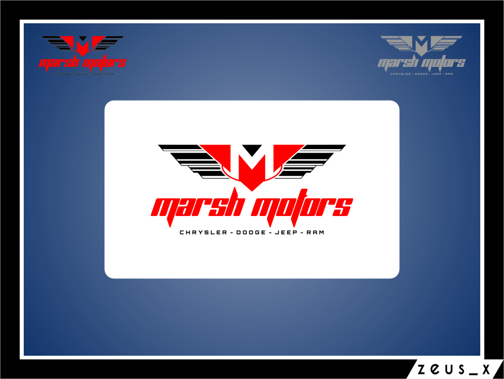 Logo Design by Ngepet_art - Entry No. 23 in the Logo Design Contest Marsh Motors Chrysler Logo Design.