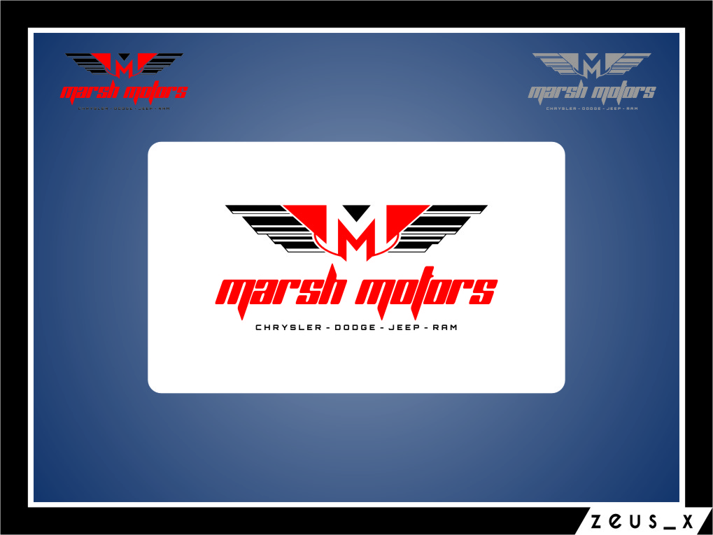 Logo Design by Ngepet_art - Entry No. 24 in the Logo Design Contest Marsh Motors Chrysler Logo Design.